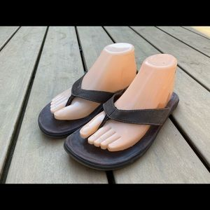 Chaco Women's Gray Thing Flip-Flop Sandals Size 10